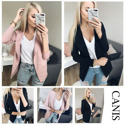 AU Women Elegant OL Cardigan Slim Casual Business Blazer Top Jacket Coat Outwear