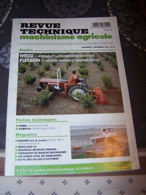 Agriculture Fiat Rtma N°24 Revue Technique Machinisme Agricole Sperry Vickers