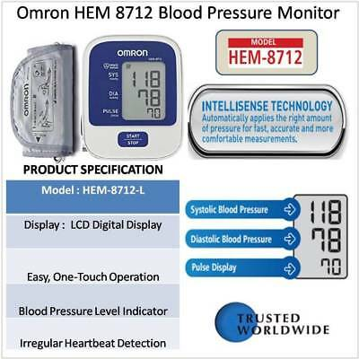 Omron HEM-8712 Upper Arm Automatic Blood Pressure Monitor
