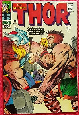 Thor 126 Marvel Silver Age 1967 1st Issue Epic Thor vs Hercules battle