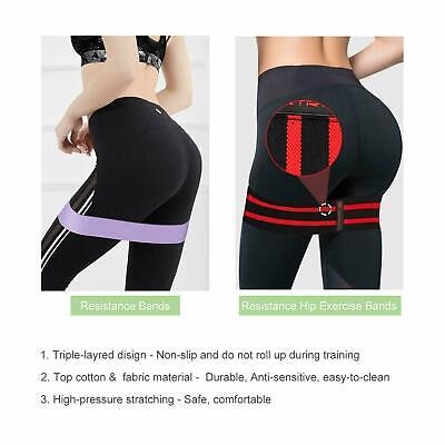 GR Resistance Bands Home Hip Leg Muscle Workout Gym Physical Therapy Yoga /Butt