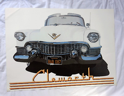 54 White Caddy - Harold James Cleworth - 1980 - Large Poster - Sparrow Edition
