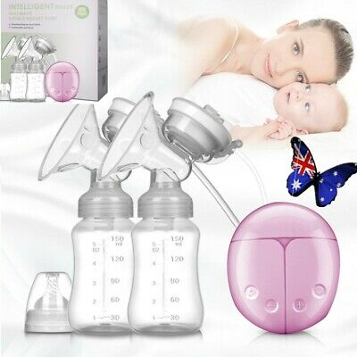Electric Hand Free Breast Pump Automatic Double Intelligent Baby Feeder USB HOT