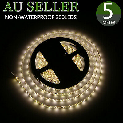 5050 RGB 5M 300 LEDs SMD LED Strip Lights DC 12V Non-Waterproof only Flexible AU