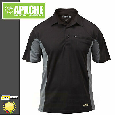 Apache Dry Max Work Polo Shirt - Lightweight Breathable - Moisture Wicking