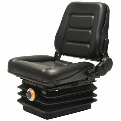 Forklift & Tractor Seat with Suspension and Adjustable Backrest E2V1