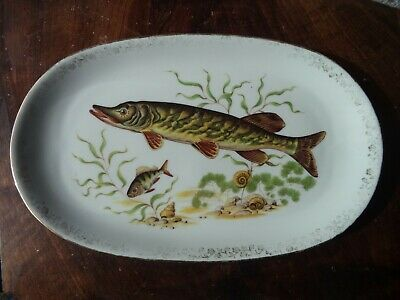 Ancien Plat A Poissons En Porcelaine Art De La Table French Antique