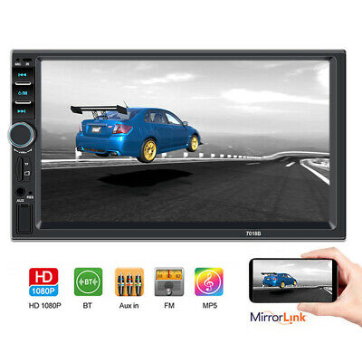 """7"""" inch Double 2 DIN Car MP5 Player Bluetooth Touch Screen Camera Stereo Radio"""