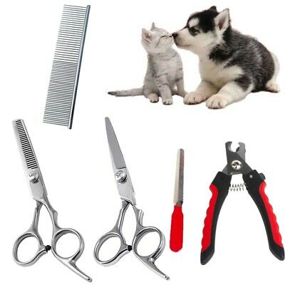 Pet Nail Claw Clippers Scissors Hair Cutter Trimmer Kit Grooming Set for Dog Cat