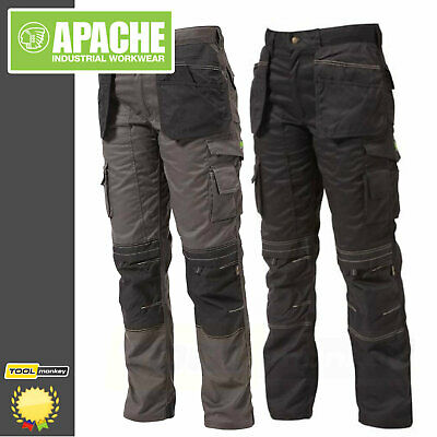 Apache Work Trousers - Knee-Pad & Twill Holster Pockets Cordura Triple Stitched