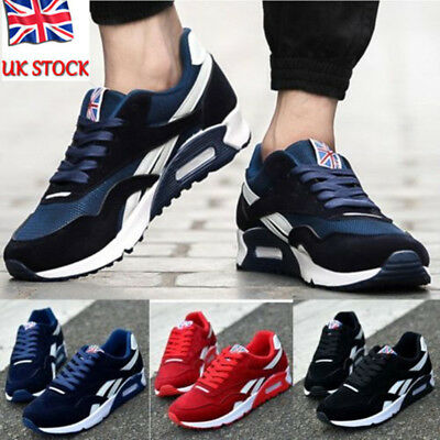 Mens Running Trainers Casual Lace Up Gym Walking Boys Sports Shoes Size Uk 6.5-9