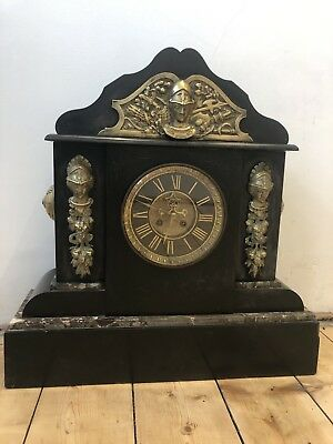 Napoleon I II III French Slate Mantle Clock Vincenti & Cie Medaille D Argent