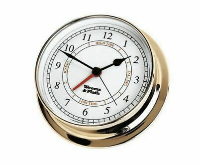 Weems & Plath Endurance 125 Time & Tide Clock (Available in Chrome and Brass)