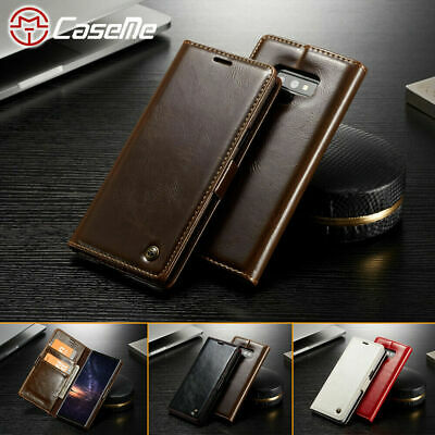 CaseMe Samsung Galaxy S10 Note 9 Wallet Leather Case Magnetic Stand Flip Cover