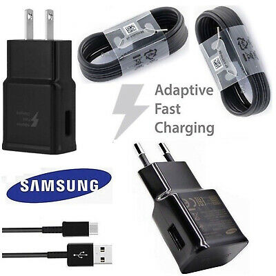 Adaptive Fast Wall Charger Type-C Cable For Samsung Galaxy S8 S9 Plus Note 9 8