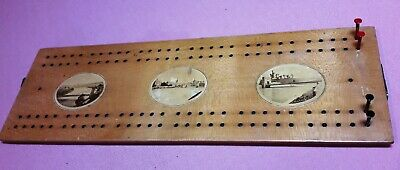 Nice Mauchline Ware Cribbage Board  Featuring Inverness
