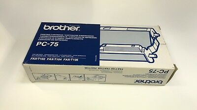 Original Genuine Vat Inc Brother Pc-75 Thermal Transfer Roll Pc75 Pc 75