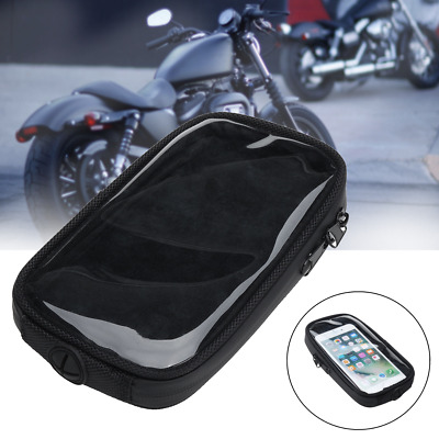 Motorcycle Magnetic Oil Tank Bag Clear Cell Phone Case Mount Holder 18cm x 11cm