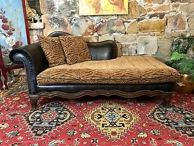 Vintage Chesterfield Chaise Lounge~Sofa-Chair~French Louis Style~