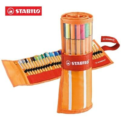 Stabilo  8830-2  - Penna fineliner point 88 - Roller Set Colori Ass. - Conf. 30