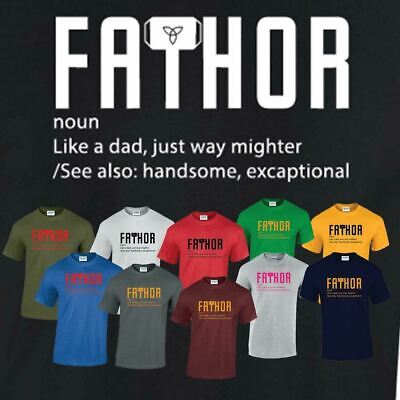 Fathor tshirt Dad Just Day Father's Vintage Gift Cooler Fa-Thor Hammer Gifts