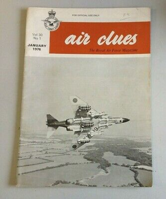 Air Clues RAF Magazine Volume 30 Number 1 January 1976   (A2025)