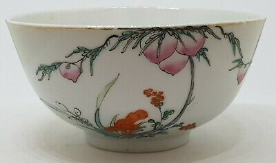 Good Vintage Chinese Porcelain Republic 1912-1949 Peach Bowl Signed