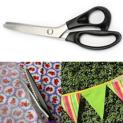 Fabric Pinking Shears Sewing Scissors Serrated Scalloped Soft Grip Cut Wavy Edge