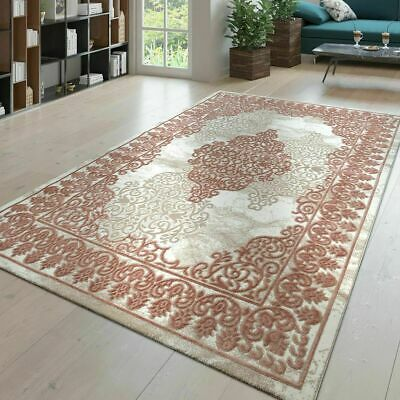 Traditional Rug Victorian Style Oriental Carpets Ornaments Small Large Mats Pink