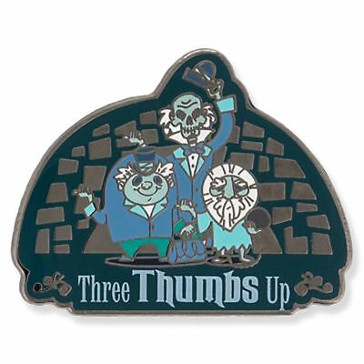 NEW! 2018 Disney Parks Haunted Mansion Hitchhiking Ghosts Three Thumbs Up Pin