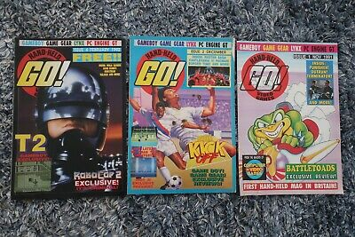 3 Go ! Hand-Held Video games Magazines Issues 1 2 4 Job Lot