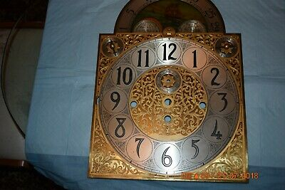 HERSCHEDE GRANDFATHER CLOCK DIAL1920s for project