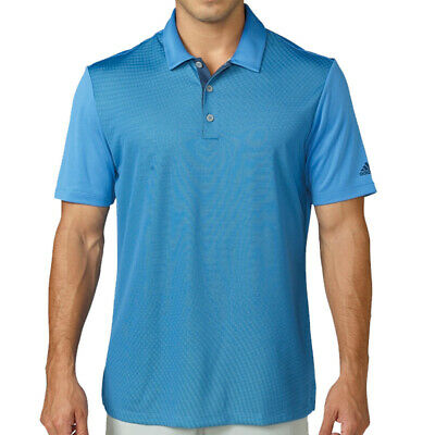 New Adidas Climacool Dot Gradient Golf Polo Ray Blue Small