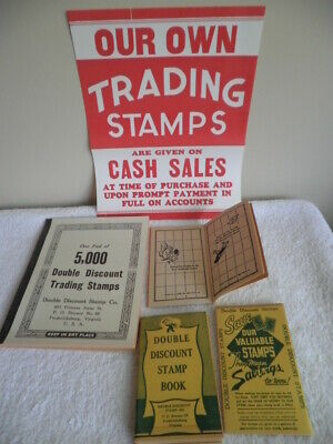 Double Discount Trading Stamps~5000 Unused~Redemption Books~ Store Poster