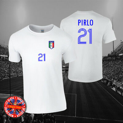 Andrea Pirlo Italy Football Legend T-shirt, Men's, Ladies, Kids, World Cup