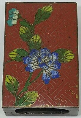 FINE AND RARE ANTIQUE CHINESE CLOISONNE 19th CENTURY MATCHBOX COVER