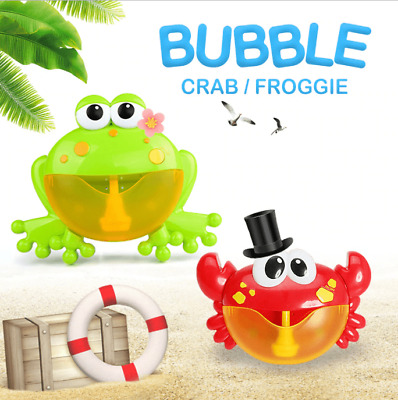 Bubble Crab/Frog Automatic Shower Machine Blower Maker Bath Music Kid Baby Toy