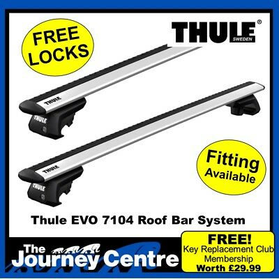 Thule WingBar Evo Silver Roof Bars fit Mercedes C Class W204 No Glass Roof 07-13