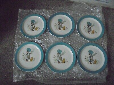 Vintage Holly Hobbie side plates x 6
