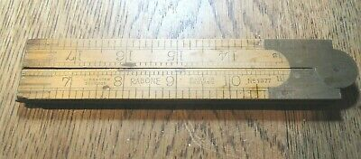 "Vintage Folding Rule Rabone No. 1377 24"" Boxwood And Brass"