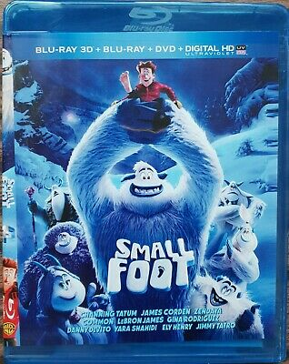 Small Foot 2018 & Incredibles 2 2018 Blu-Ray 3D Region Free