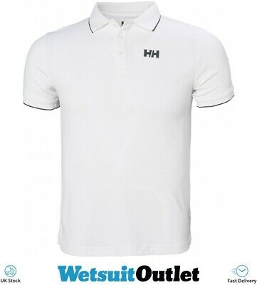 677b9cd7 Helly Hansen Mens Kos Polo White Quick Dry Quick dry fabric Watersports