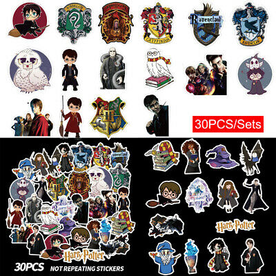 30PCS/Sets Harry Potter Sticker Hermione Voldemort Badge Stickers Decal Laptop