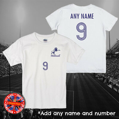 Millwall Inspired Personalised Kids Football T-shirt, Gift, England