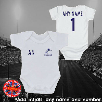 Personalised Millwall Inspired Football baby grow, kids t-shirt, Gifts