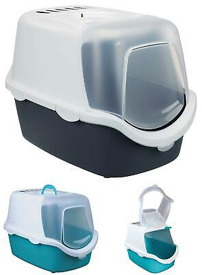 Trixie Vico Easy Clean Cat Litter Tray With Dome  40 X 40 X 56 Cm  Turquoise/Whi