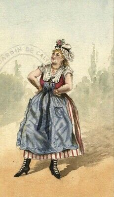 Albert A. Harcourt, Theatrical Frenchwoman –19th-century watercolour painting