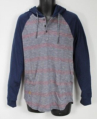 bdc36cfe21 RIP CURL MEN'S Colorblocked Striped Hoodie Blue Size Small - $11.04 ...