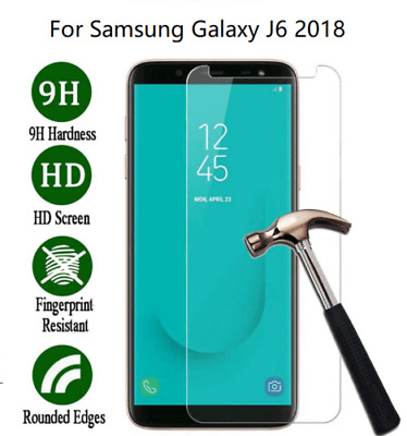 Geniune Tempered Glass Screen Protector Protection For Samsung Galaxy J6 2018
