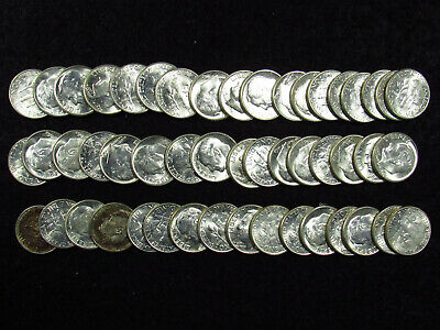 2011D OBW ROOSEVELT DIME ROLL BU//MS Heads//Tails